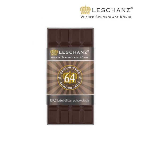 100g Tafelschokolade Bitter - 64% Kakao