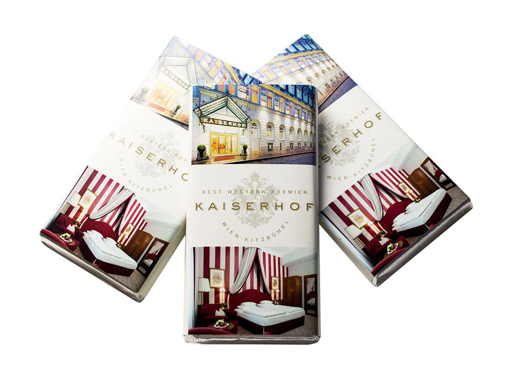 50g Werbeschokoladen Kaiserhof einzeln