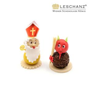 Nikolo und Krampus - Marzipanfiguren