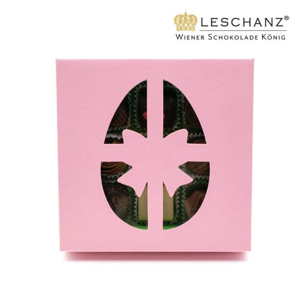 Osterkonfekt in rosa Schachtel, Außenansicht